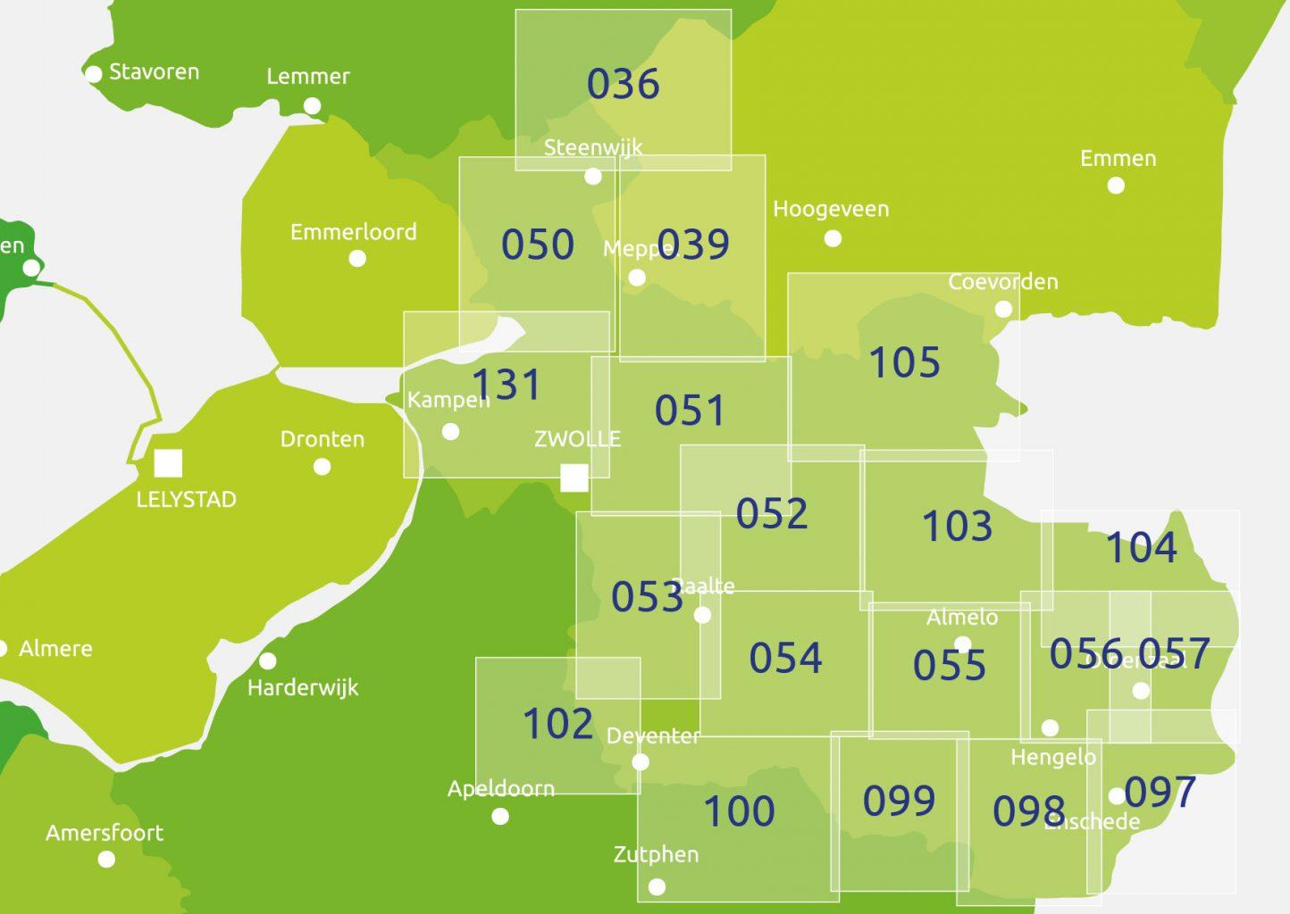 zoekkaart Knooppuntkaart Overijssel