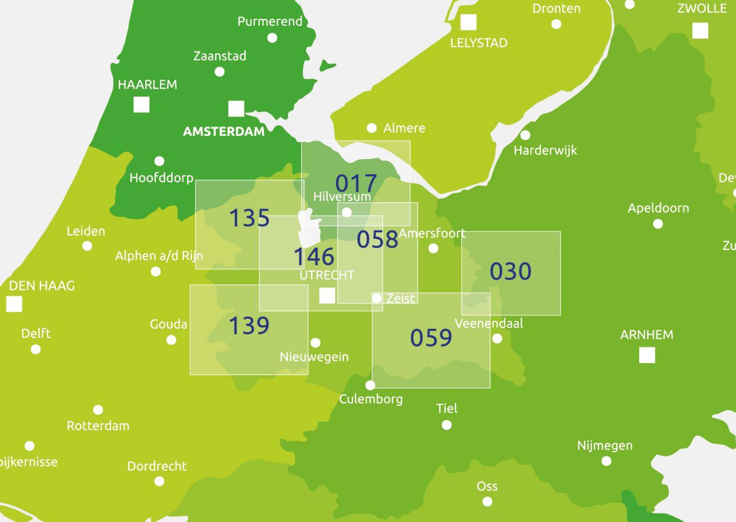 zoekkaart Knooppuntkaart Utrecht
