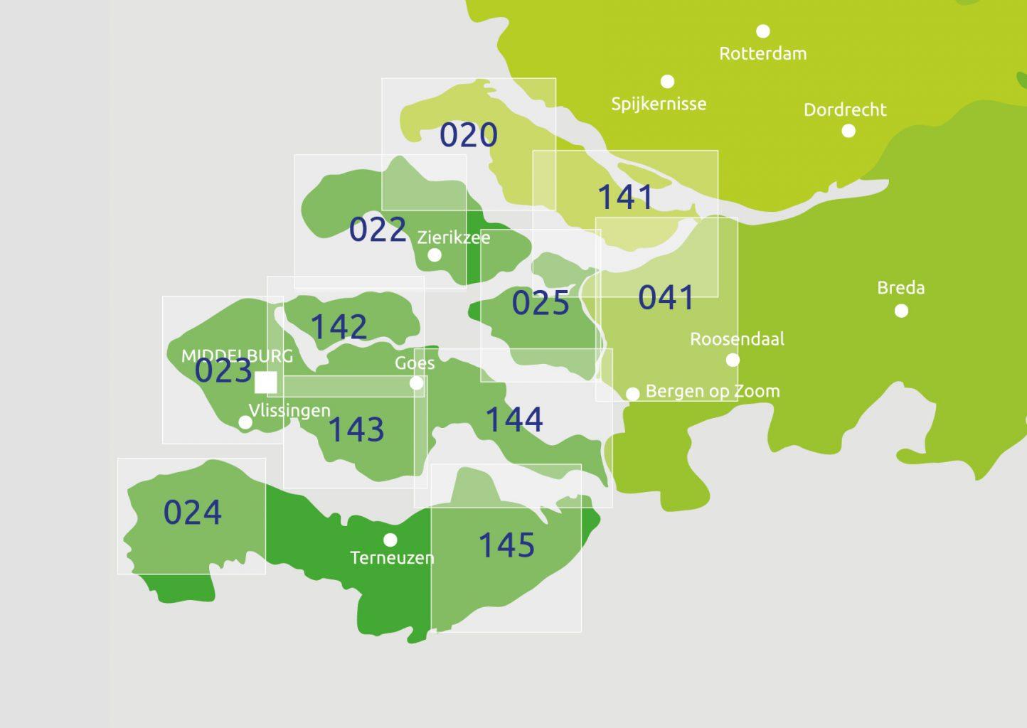 Zoekkaart Knooppuntkaart Zeeland