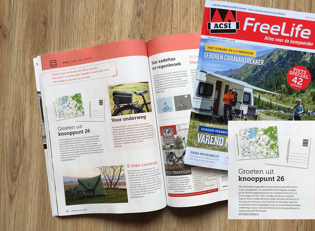 Knooppuntkkaart in ACSI Freelife magazine