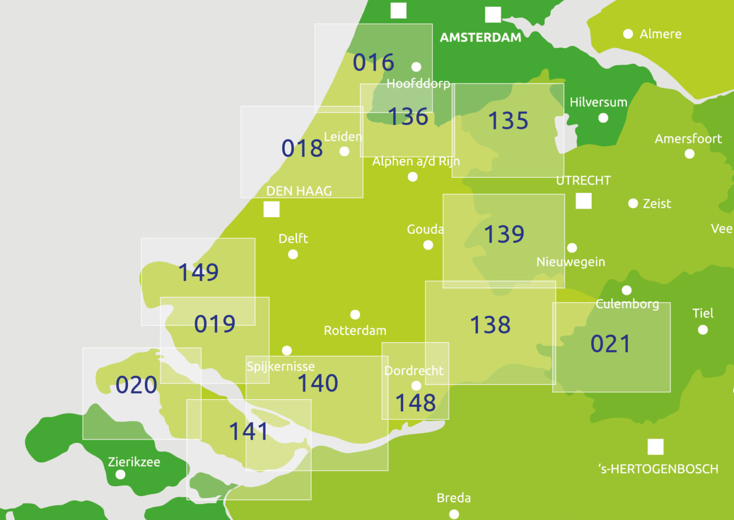 zoekkaart Zuid Holland